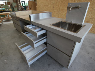 Outdoor Küche Edelstahl Schubladen : Küchen